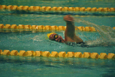 In her freshman campaign, Julia DelNero had a season-best time in the 100 butterfly (1:04.67) at the Metropolitan Championships. -File Photo from 2012-13