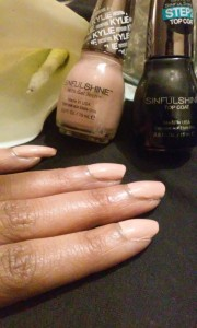 """King Kylie SinfulColors SinfulShine nail polish in """"Karamel."""" The polish can be purchased at Walmart for $2.98. -Staff Photo/Sheree Moore"""