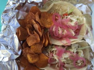 An order of mahi fish tacos from I Got Crabs...N Some. -Staff Photo/Catherine DeMuro