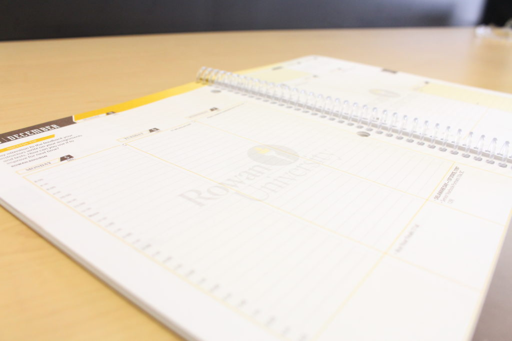 Rowan agenda planners help keep students organized. - Staff photo/Amanda Palma