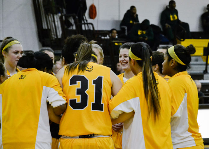 07d476264051b The Rowan women s basketball team huddles up last year. The Profs bring a  unique and deep roster into the 2018-2019 season.